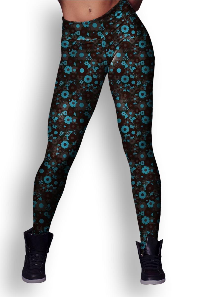 Calca Legging Estampa Floral Tumblr Vintage Retro - R$ 120,90 em ...