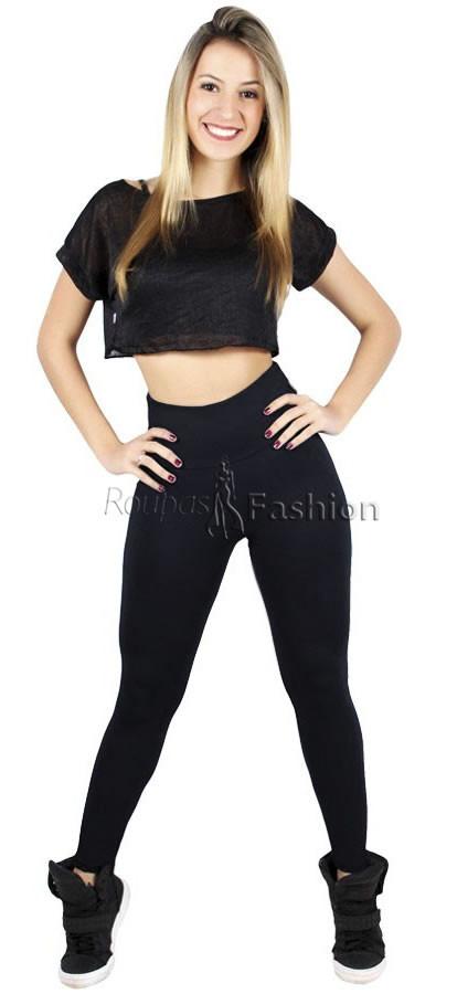 466223e0e calça legging feminina cós alto temos flare bandagem jeans. Carregando zoom.