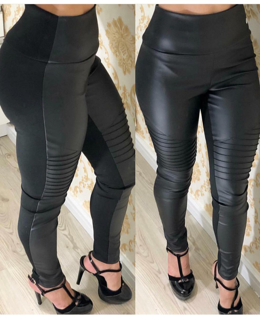 18cac4757 calça legging feminina couro ecologico preta. Carregando zoom.