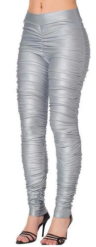 calça legging feminina drapeada