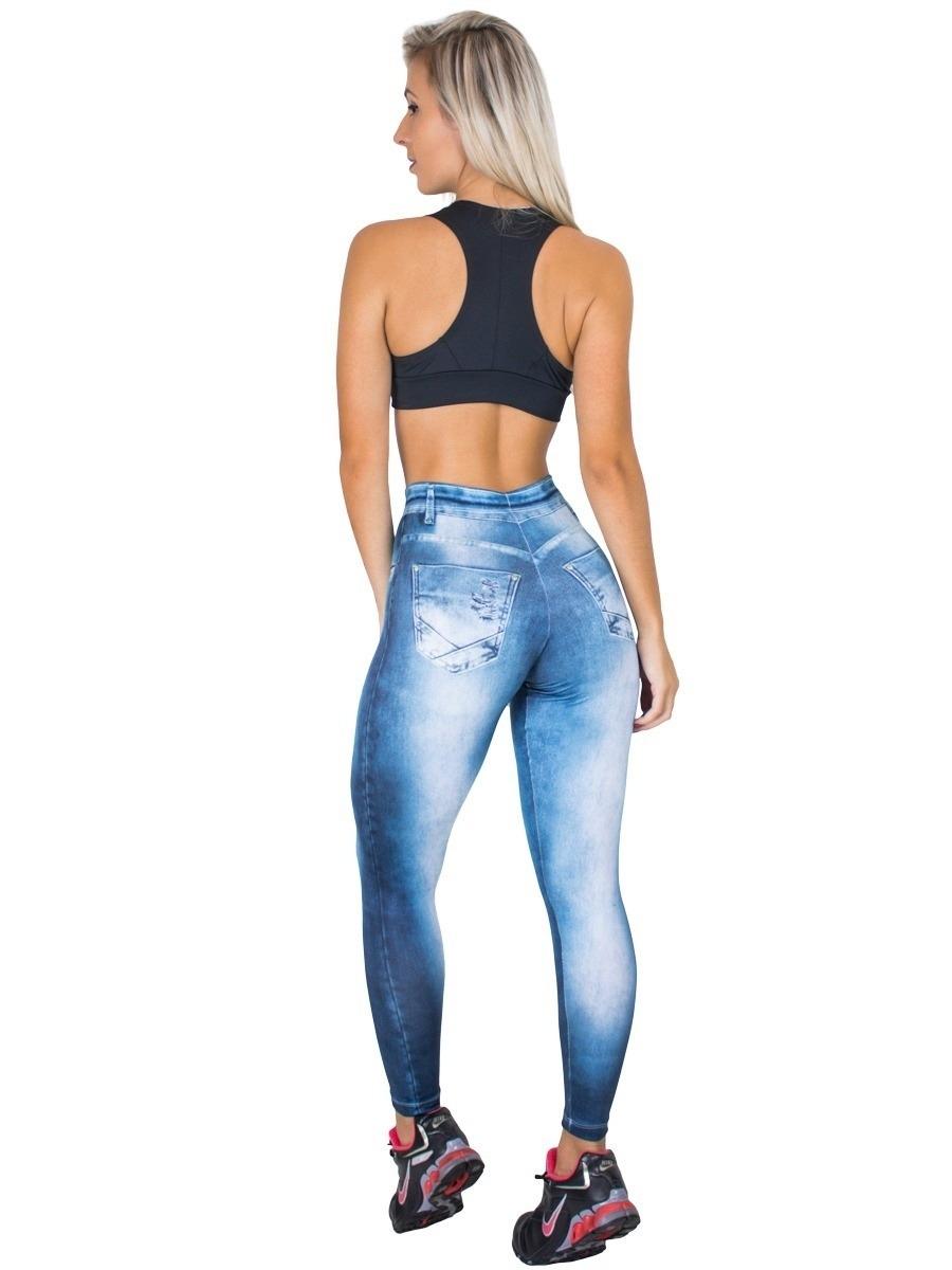 40aff073a calça legging jeans fake fitness feminino cintura alta. Carregando zoom... calça  legging feminino. Carregando zoom.