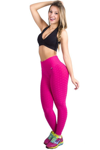 calça legging fitness bolha disfarça celulite ginastica