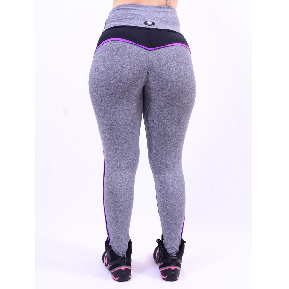 3bae25d4a calça legging fitness dual la seduzione preta mescla. Carregando zoom.