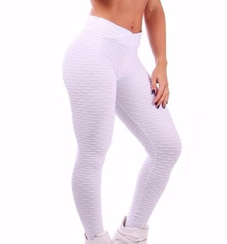calça legging fitness em tecido bolha ginástica academia