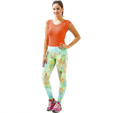 calça legging fitness feminina estampada tamanho p afrodite