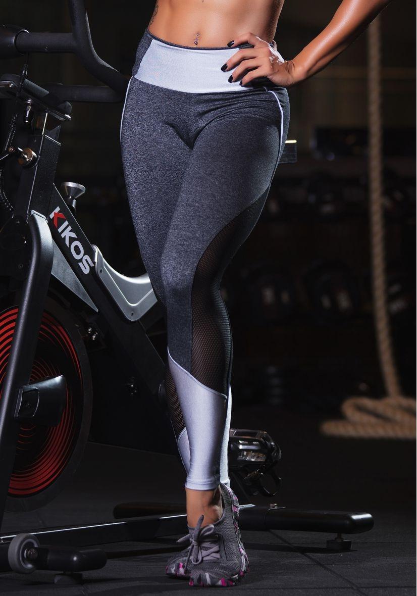 501631a65 calça legging fitness- mescla cirré tela - academia 2018. Carregando zoom.