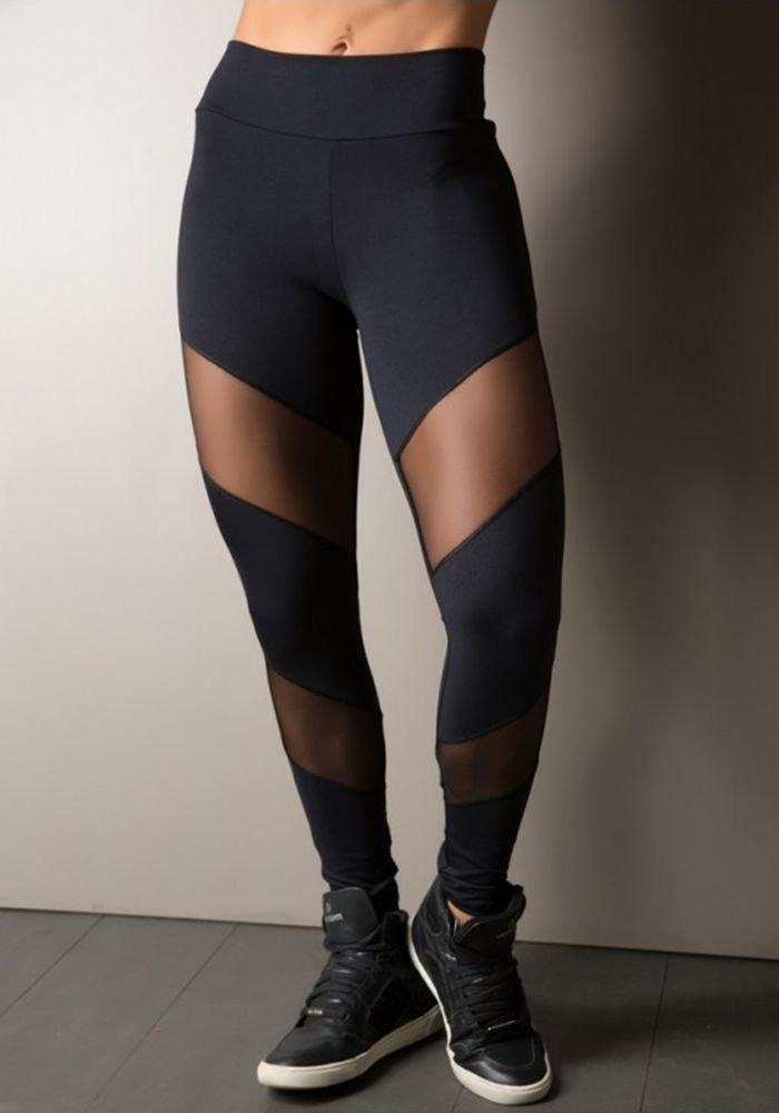 4f935b403 calça legging fitness recorte em tule. Carregando zoom.
