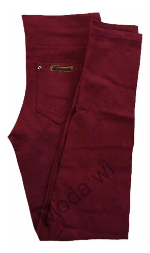 calça legging  infantis   cotom  com bolso atras   1 ao 16