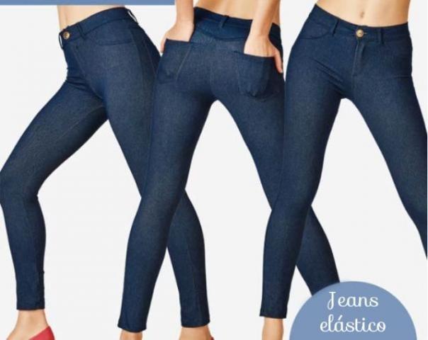 3b09bc6c3 Calça Legging Jeans Demillus - R  94