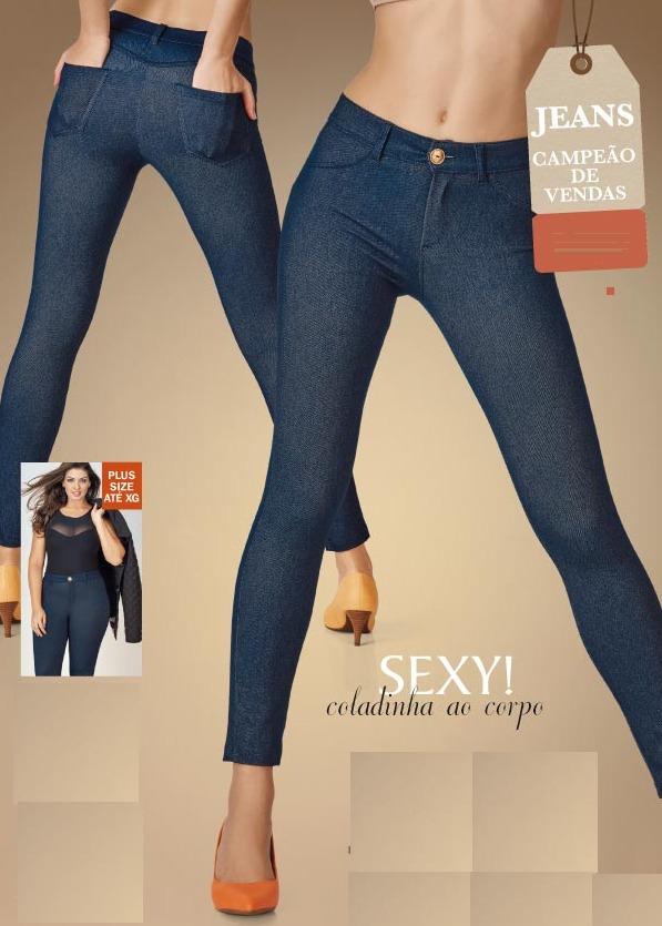 3efbd00b4 calça legging jeans   demillus. Carregando zoom.