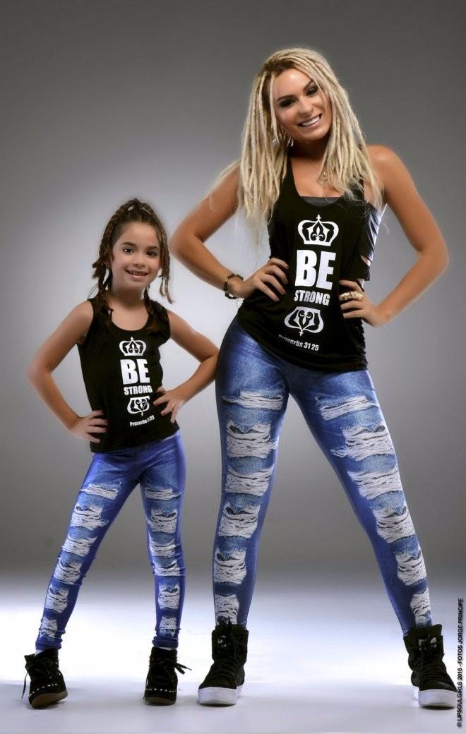 a59a184368798d Calça Legging Jeans Tal Mãe Tal Filha - Lipsoul Girls