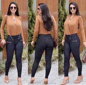 b3de0f87c Calca Legging Malha Jeans - Calçados, Roupas e Bolsas no Mercado Livre  Brasil