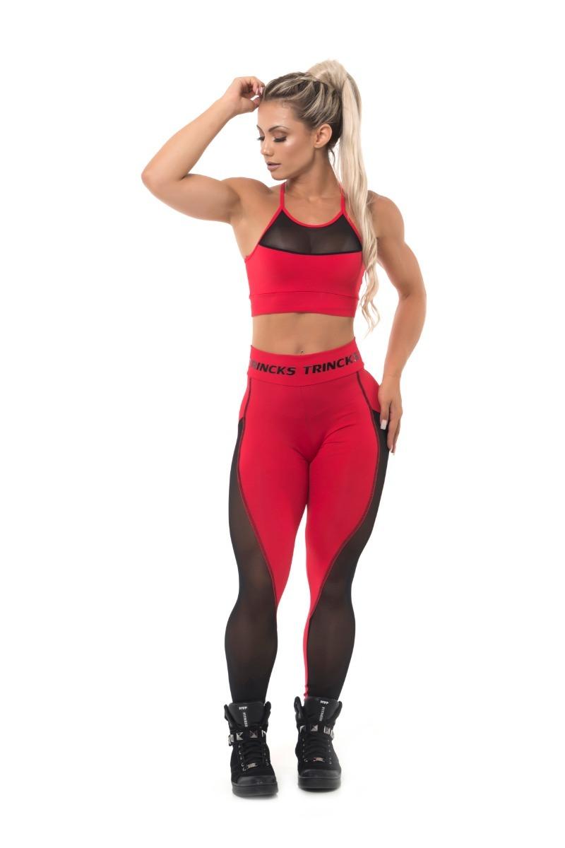771732c51 calça legging leg fitness suplex vermelho com tule lateral. Carregando zoom.