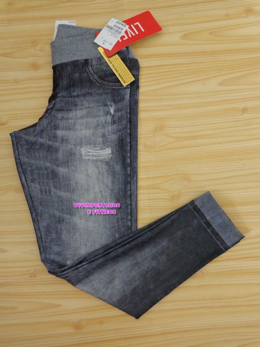 3de3494a87 Calça Legging Jeans Live Fitness A Melhor Marca - Cós Cinza - R  129 ...