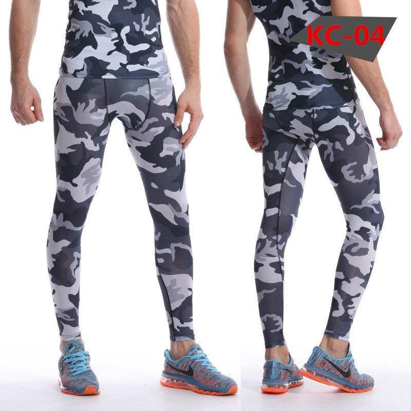 calça legging masculina compressão camuflado cinza preto wor. Carregando  zoom. b810ca458c952
