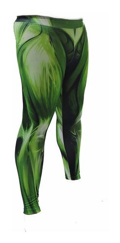 calça legging masculina hulk  estampa músculos 3 d verde