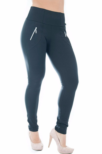 calça legging montaria grossa ziper bolso preta cl001