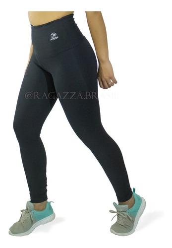 calça legging plus size cintura alta - suplex