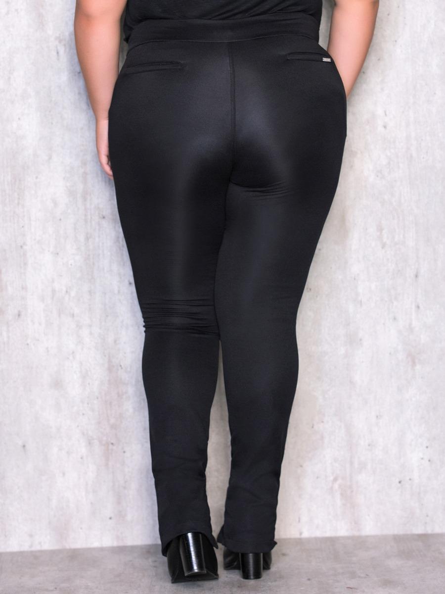 7c71d1d1936e calça legging plus size com zíper na perna p carla bergamask. Carregando  zoom.
