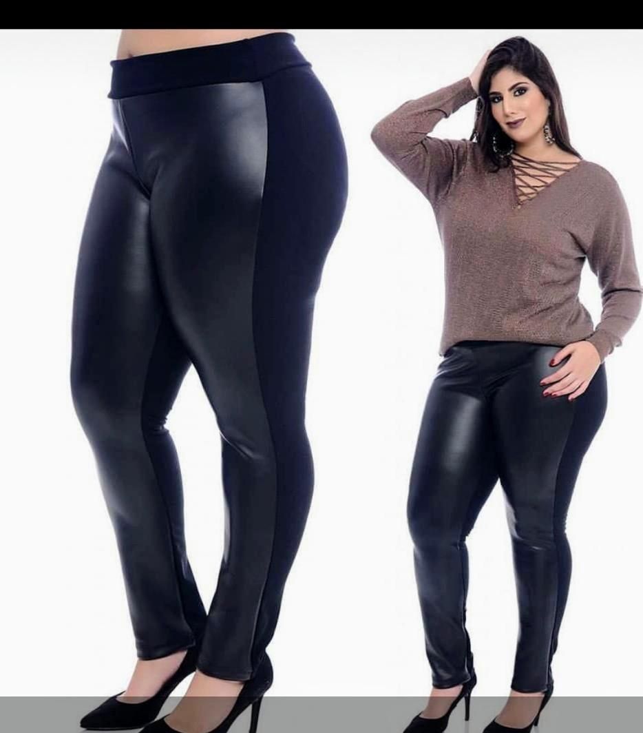 f01708b81 calca legging plus size tipo couro. Carregando zoom.
