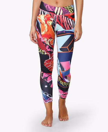 calça legging reebok y graffiti tight - crossfit