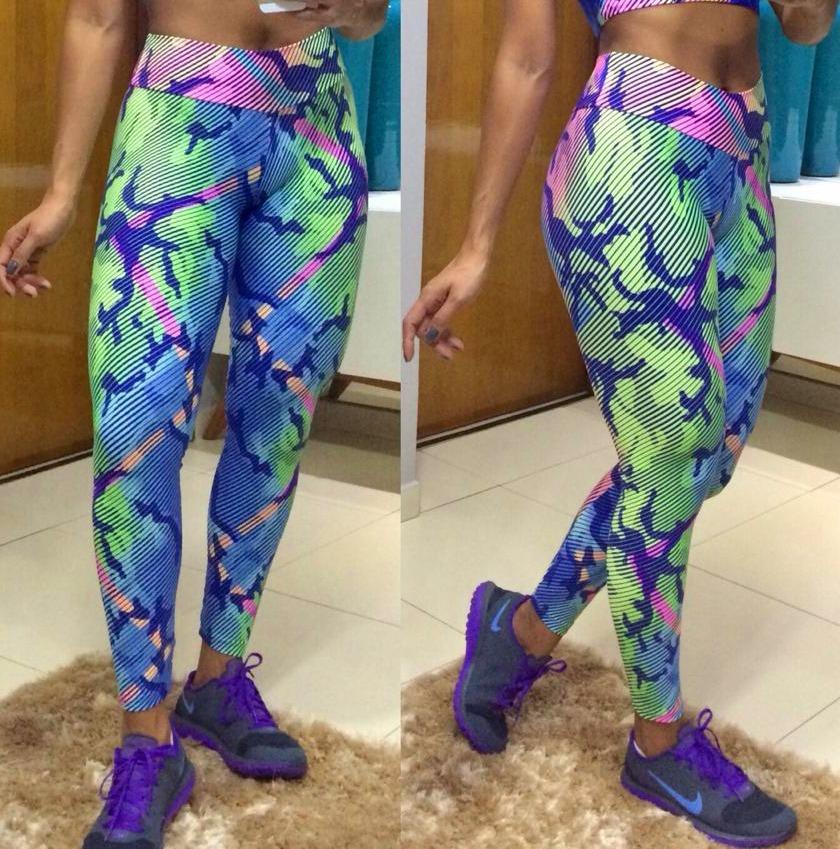 9663a93c8 Carregando zoom... legging roupas calça. Carregando zoom... calça legging  cós alto roupas de academia escolha estampa