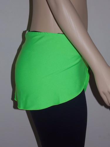 calça legging suplex c/ saia-tapa bumbum- fitness,academia