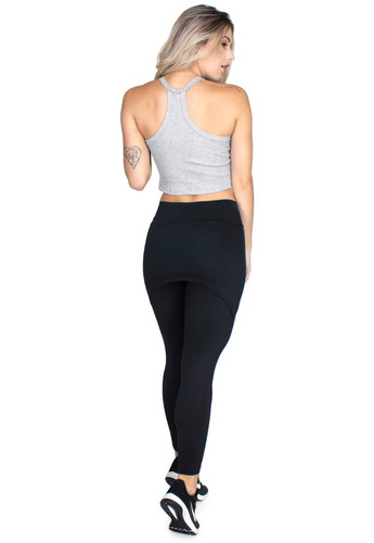 calça legging suplex saia tapa bumbum cintura alta fit 070