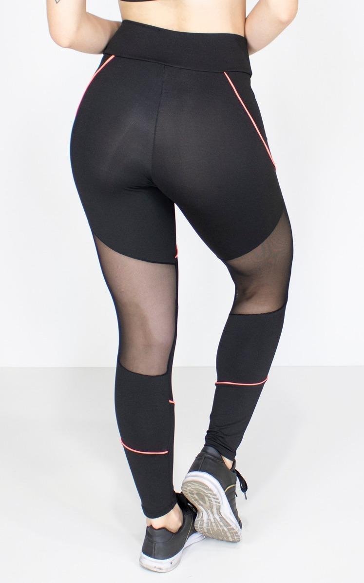 0212d2f15 calça legging tulle desenho com vivo feminina fitness 201. Carregando zoom.