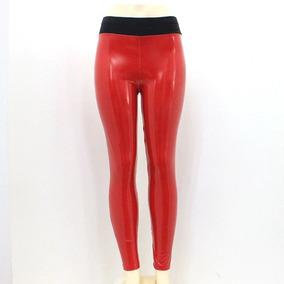 e01273a4474177 Calça Legging Vinil Brilhante Lisa Sexy Justa Pvc (2 Cores)