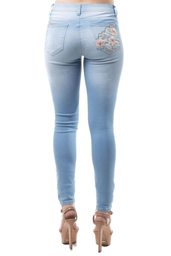 9a2ba69c2 Calça Linda Z Skinny Azul - R$ 135,90 em Mercado Livre