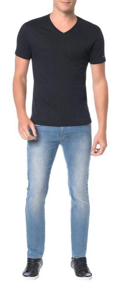 70a7662d8 Calça Masculina Calvin Klein Jeans Skinny Five Pockets Azul - R  279 ...