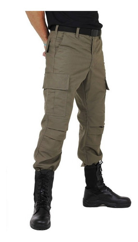 calça masculina cargo verde oliva - atack