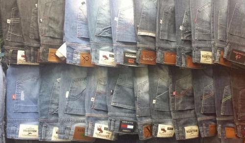 calça masculina colorida lycra slim jeans sarja 03 peças