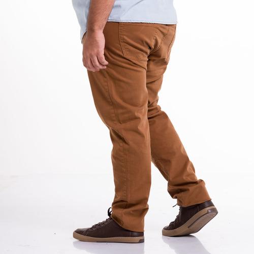 calça masculina jeans sarja colorida slin fit 38 ao 66