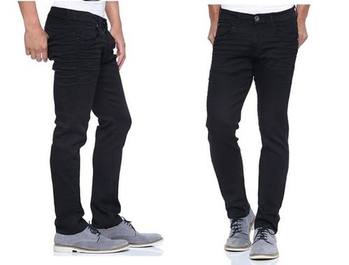 calça masculina jeans sarja skinny moda jovem garoto homem 1