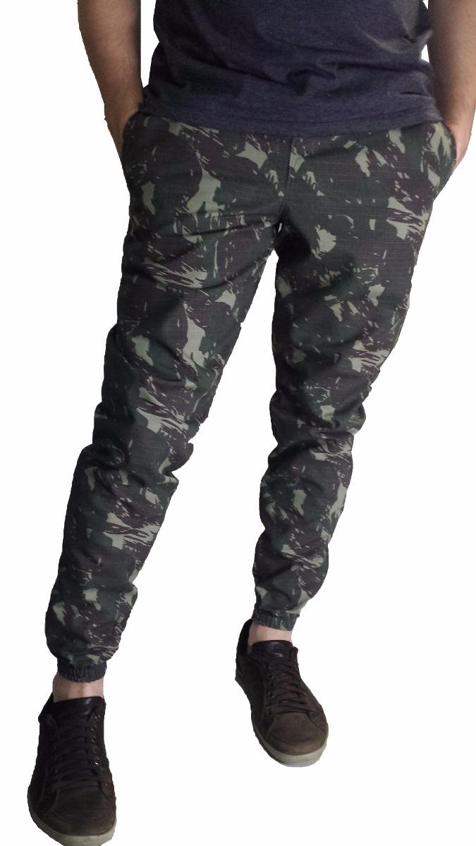 bc407d27a calça masculina jogger camuflado rip stop sarja swag skinny. Carregando zoom .