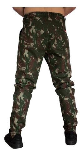 calça masculina jogger camuflado swag rip stop vcstilo