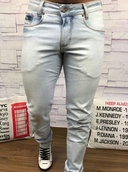 dc9e7444382db Calça Masculina Lacoste Live Jeans Slim Fit   Original - R  229,00 ...