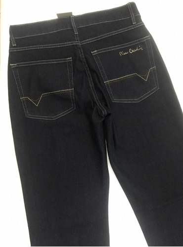 e8f2e6988 Calça Masculina Pierre Cardin Jeans Escuro Ref.457p073 Linda - R ...