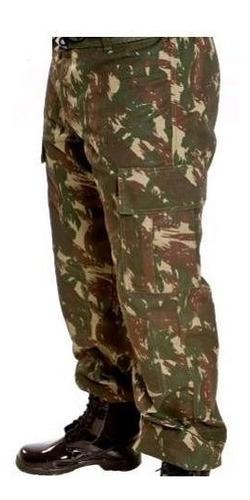calça masculina rip stop camuflado exército