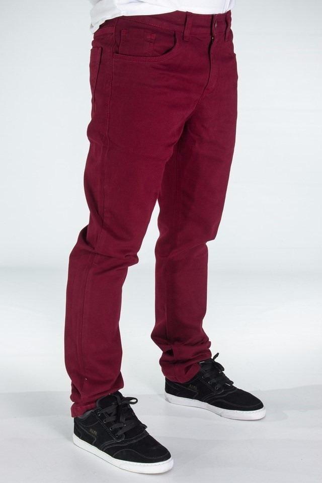 calça masculina skinny jeans social c  lycra slim + brinde. Carregando zoom. e185ff2870
