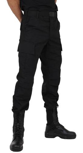 calça masculina tática miltar elite comandos rip stop preta
