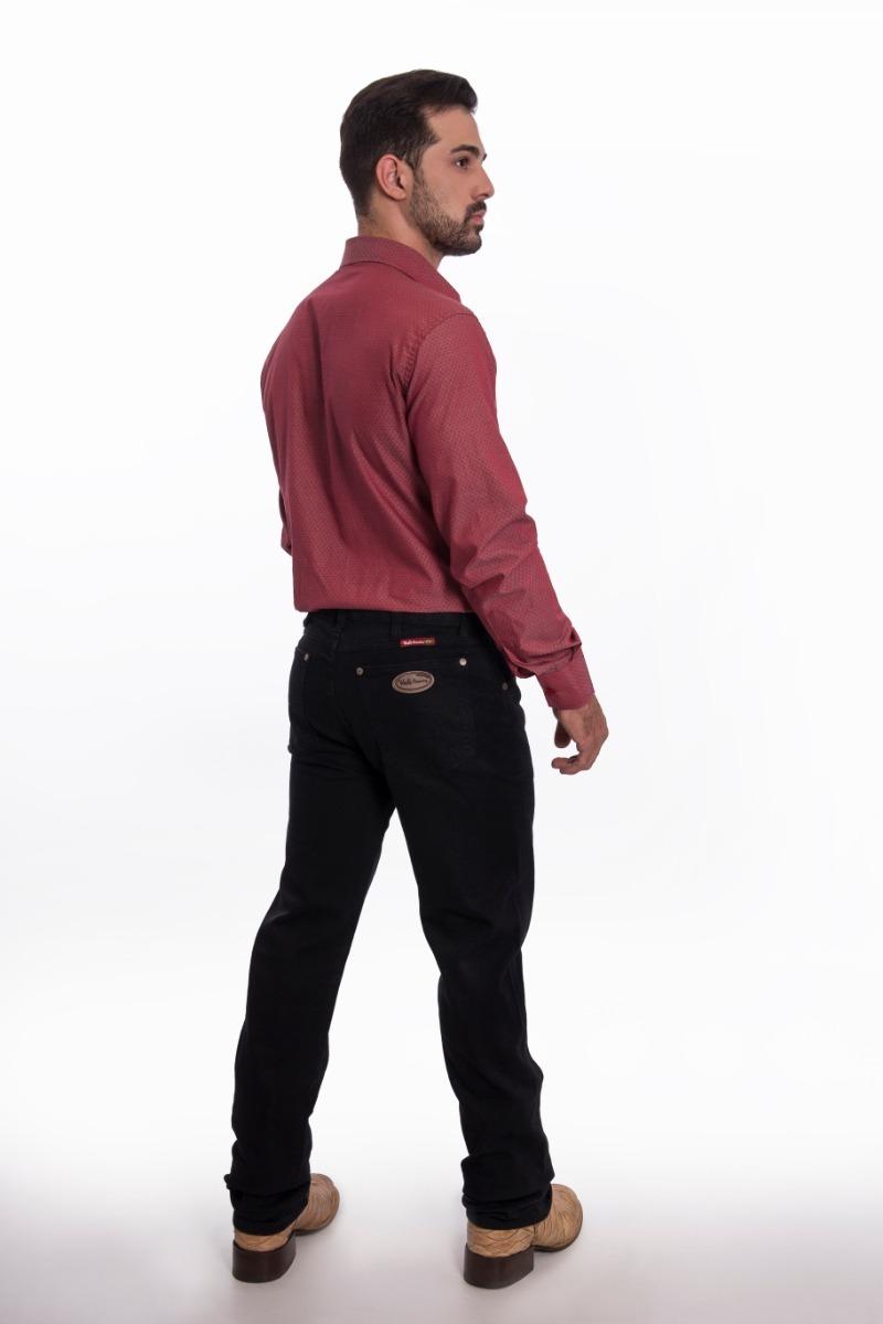 8dee4bfe07364 calça masculina west country black com elastano. Carregando zoom.