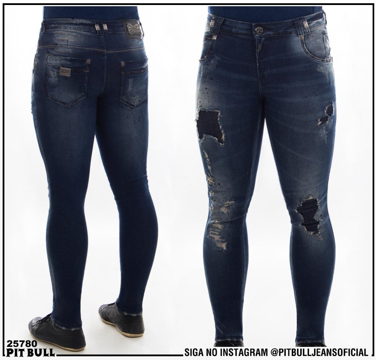 8232257e4 Calça Masculino Pit Bull Jeans Ref 25780 Super Slim - R$ 289,00 em ...