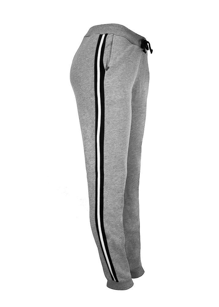 calça moletom algodão jogger feminina cinza esporte 21195lcz. Carregando  zoom. 7f87fb6bea