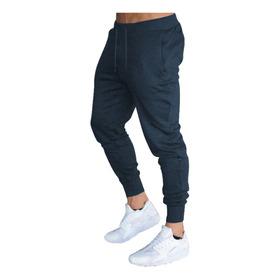 Calça Moletom Masculina Jogger Slim Fit Básica Lisa M9