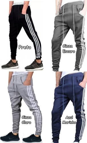 calça moletom masculina skinny sport style casual academia