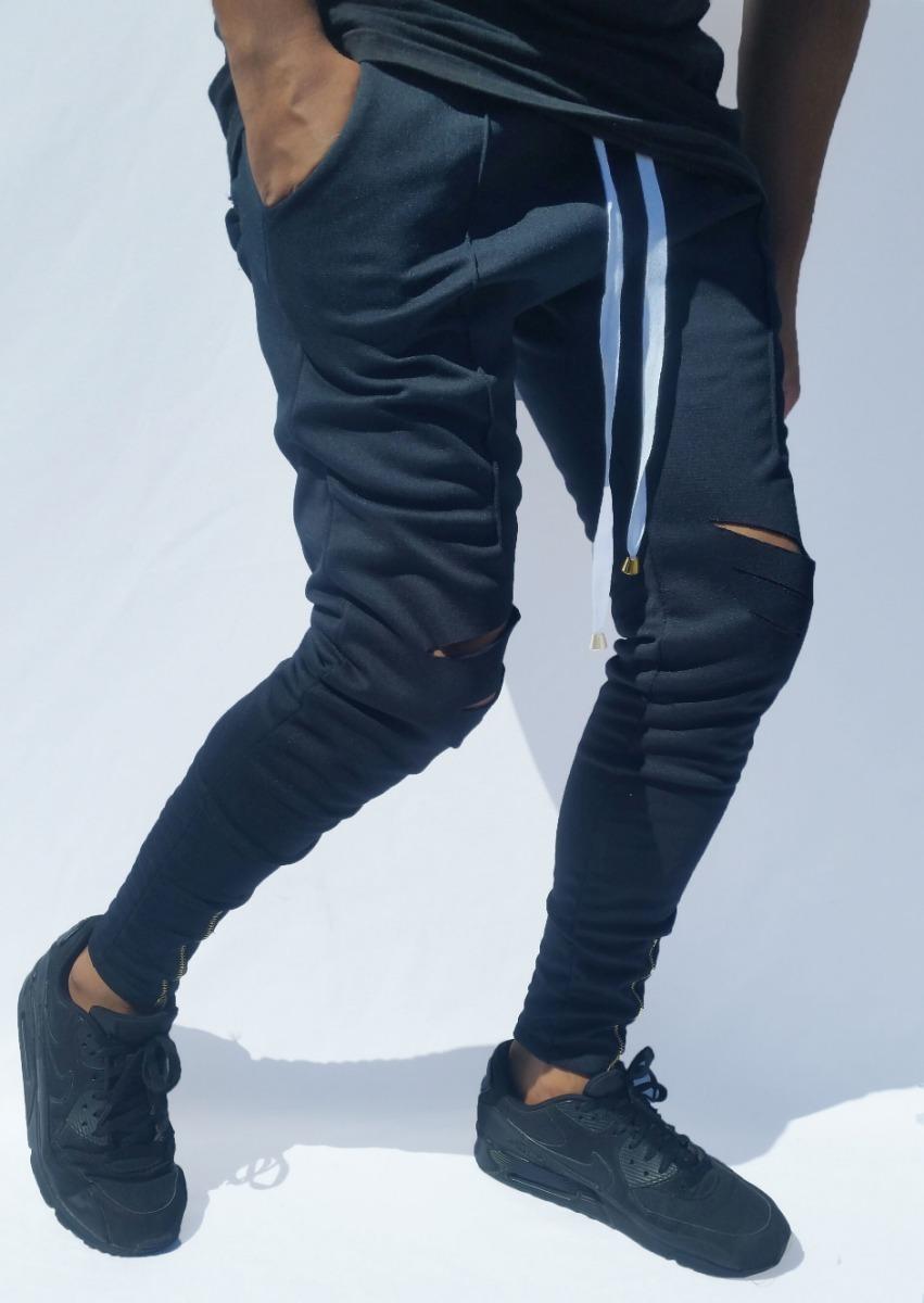 0544fb60e calça moletom swag com ziper joggerpant top rasgada apertada. Carregando  zoom.
