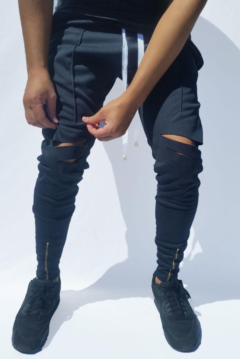 1b9d4bdbf calça moletom swag masculino lisa básica rasgada apertada. Carregando zoom.
